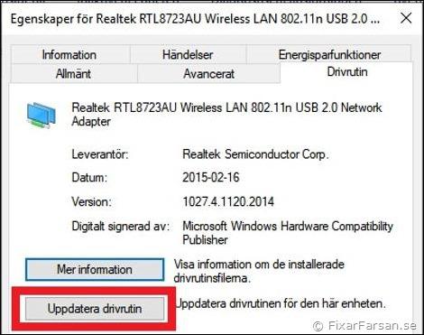 Uppdatera-Wifi-Drivrutin