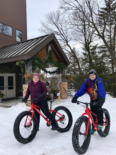 Testing out the rental fat bikes. We have a handful of bikes for rent/use.