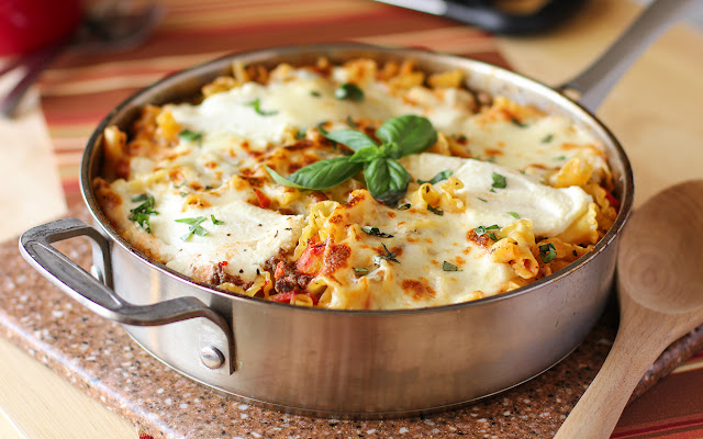 Cheese Skillet Lasagna