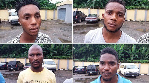 EFCC Arrests 4 Yahoo Boys In Benin (Photos)