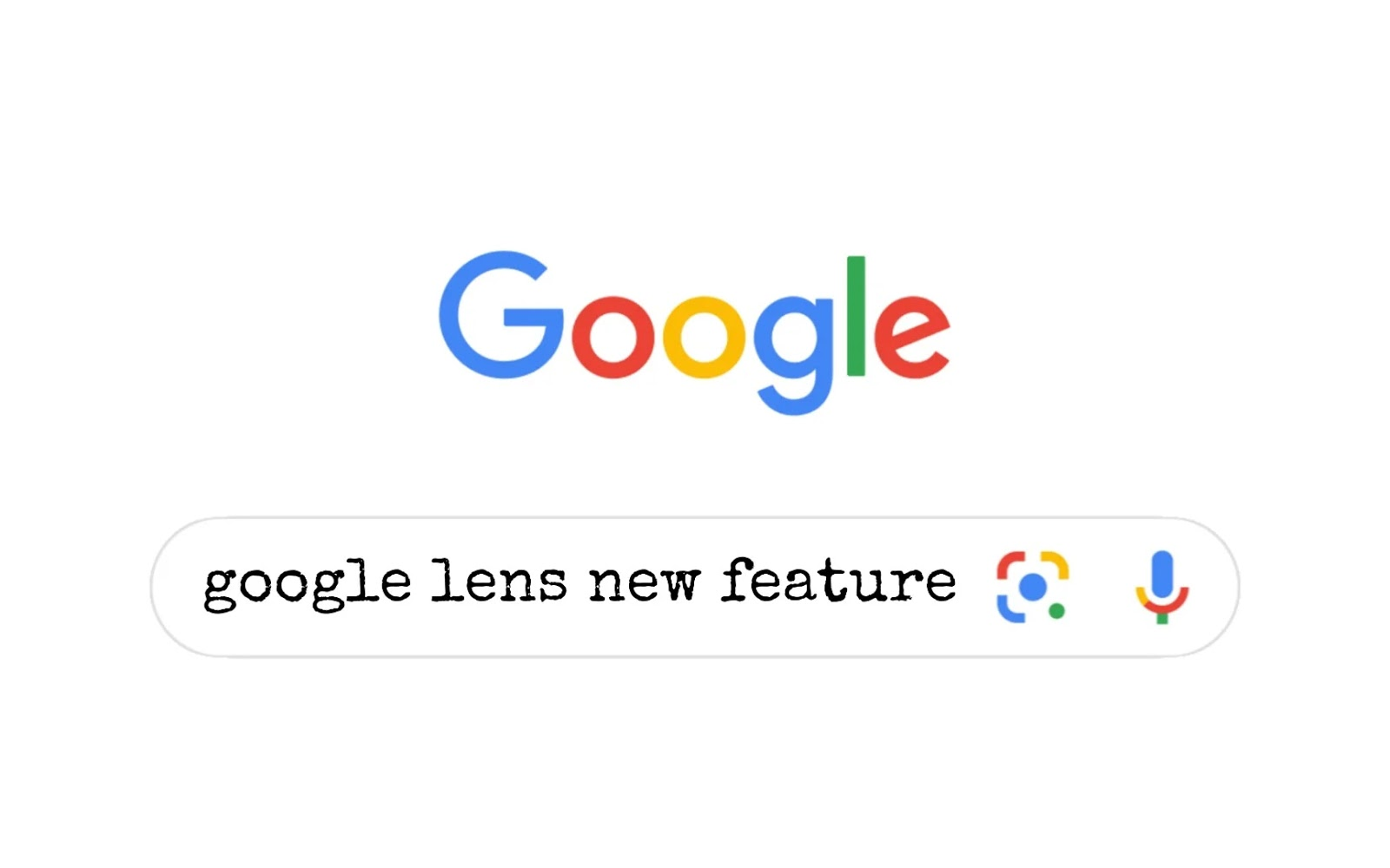 Google lens new feature