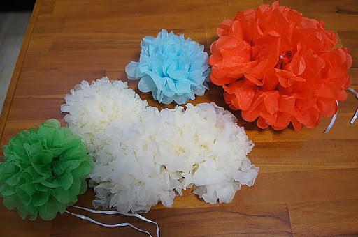3.有機白木耳和紙花球放在一起.真有趣