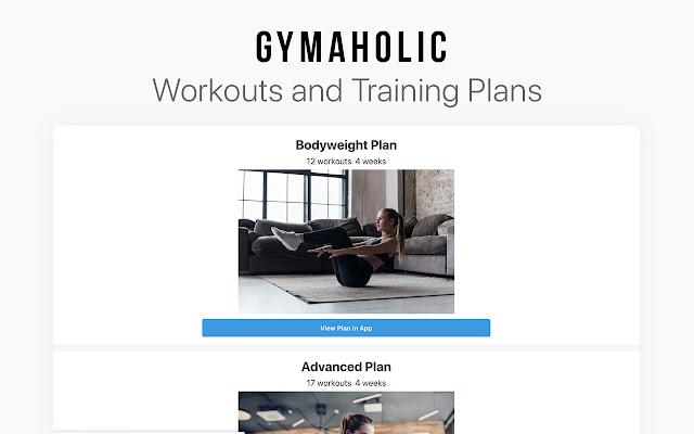 Gymaholic: Free Fitness Workouts