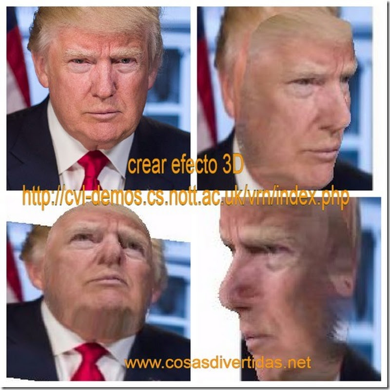 reconstrucción de una cara en 3D
