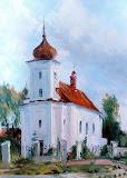 kościół w Przeciszowie olej, płótno, 70x50 cm
