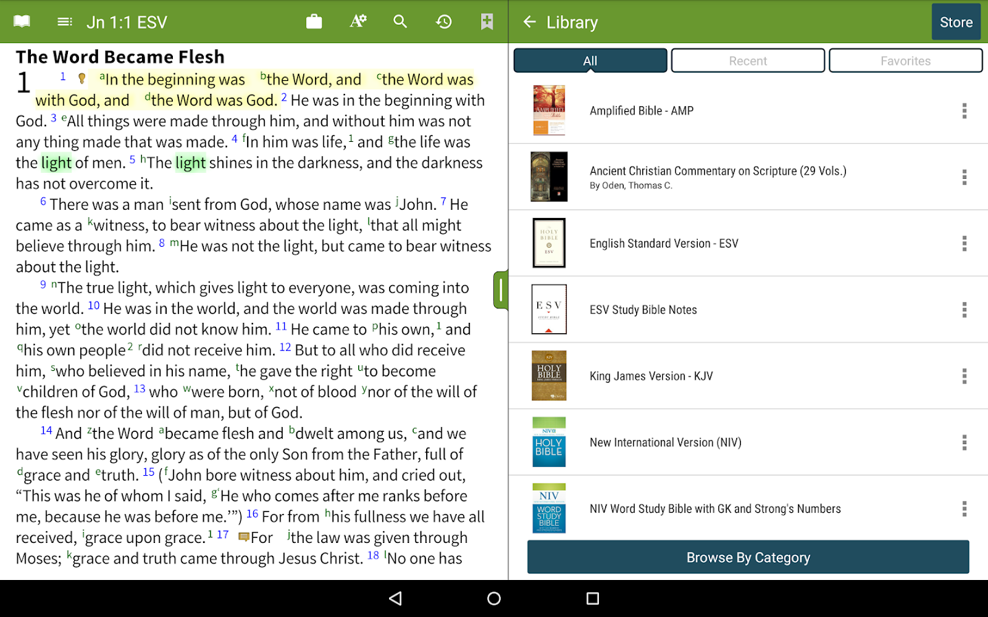 Bible+ by Olive Tree - screenshot
