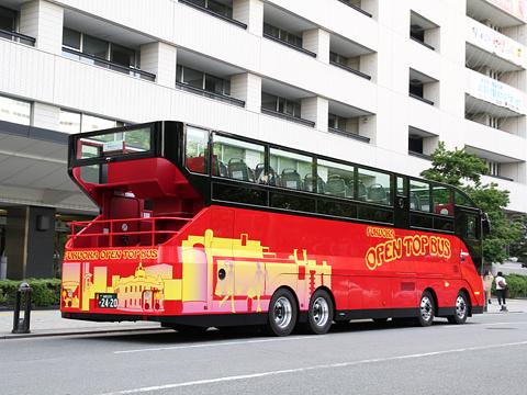 西日本鉄道「福岡オープントップバス」 0010 リア