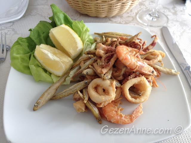 deniz ürünleri kızartması, La Kambusa Sorrento