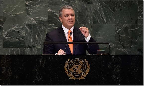 Ante la Asamblea  General de Naciones Unidas, el            Presidente Iván Duque pidió al  mundo actuar para detener            el éxodo trágico y que en Venezuela  renazca la            esperanza.
