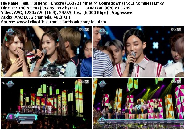 Download [Perf] GFriend – Navillera + Encore @ Mnet M!Countdown 160721 (No.1 Nominees)