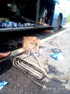 Kejadian Langka, Radiator Bus Mercedes Benz OH1626 Jebol Akibat Tendangan Balik Kompresor Dan Ini Penjelasannya