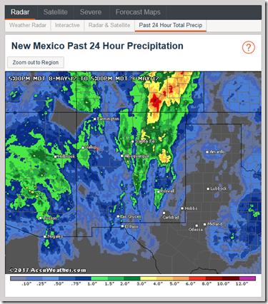 New Mexico Precipitation - 24 hours