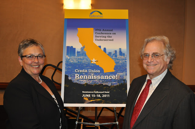 Photo of Federation President/CEO, Cliff Rosenthal and California & Nevada CU League CEO Diana Dykstra