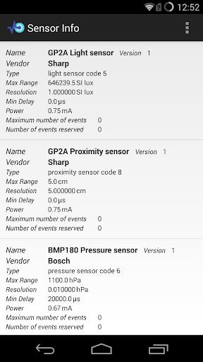Sensor Info