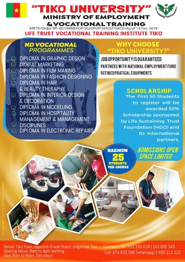 Life Trust University Tiko, Gateway to professionalism