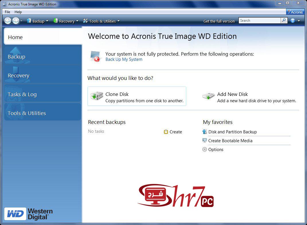 برنامج Acronis True Image WD Edition