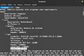 Crear un Live USB para probar e instalar el mejor sistema operativo. Desde Linux. lshw