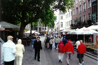 Photo: Dusseldorf has the typical cobblestone streets, shops and restaurants galore, and an Internet cafe.