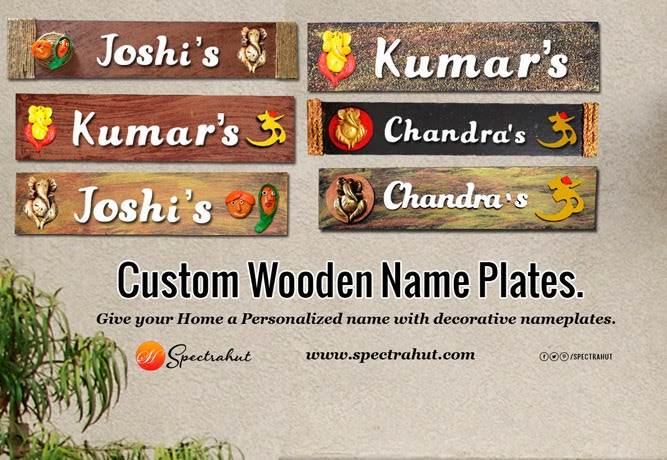 Custom Wooden Name Plates Give your Home a Personalized name with