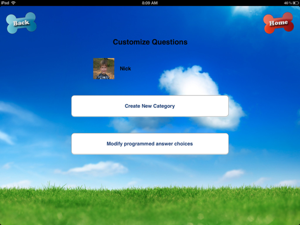 Questions2Learn Customize Questions