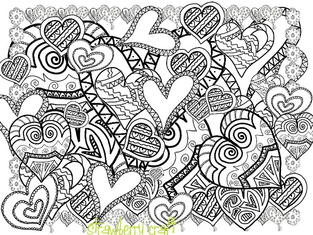 Best Heart Design Coloring Pages Pictures Kids Children and Adult