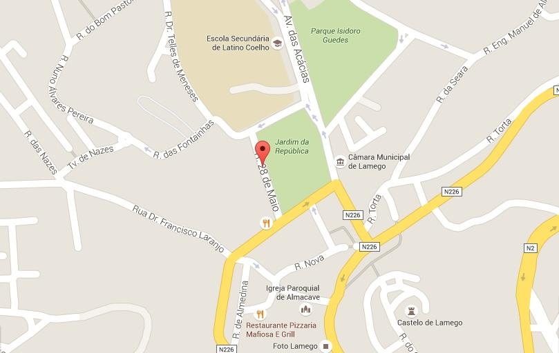 Aviso - Interdição à circulação automóvel na Rua 28 de Maio - Lamego