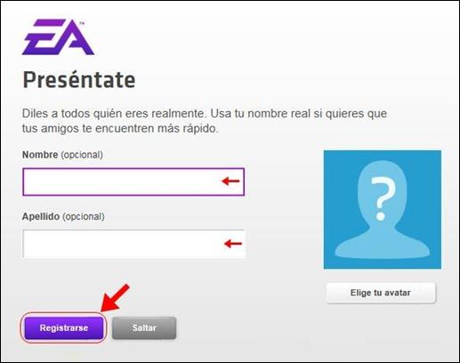 Abrir mi cuenta Electronic Arts - 568