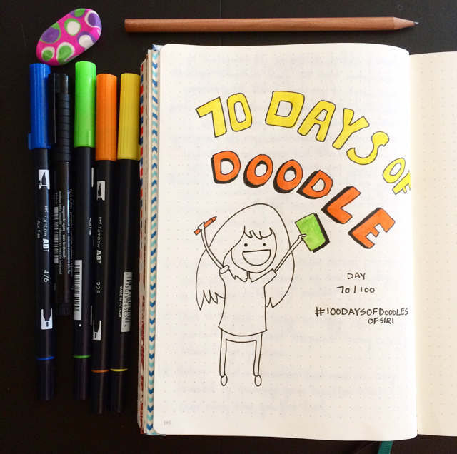 #100DaysOfDoodles | Day 70 | Next Up, 30 Days Of Hand Lettering | The 100 Day Project