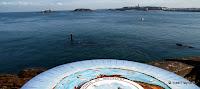 Pointe du Moulinet : table d'orientation et vue sur Saint-Malo