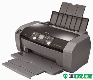 How to reset flashing lights for Epson R240 printer