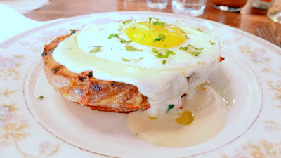Burnside Brewing Brunch menu includes Croque Madame with country ham, gruyere, brioche, mornay, sunny up egg