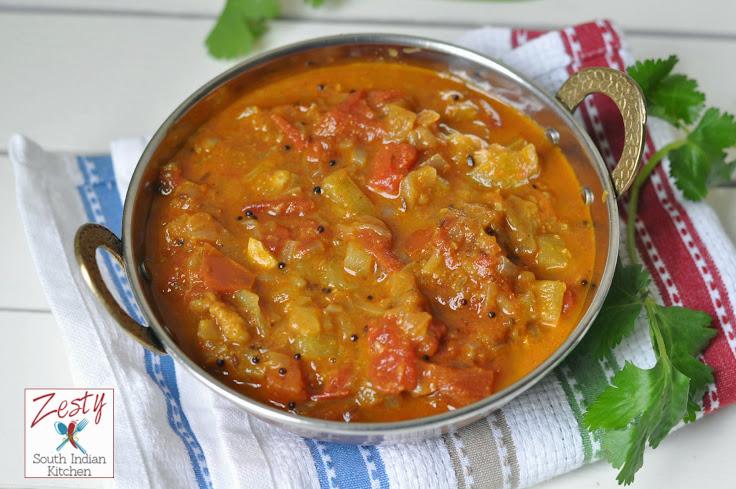 Peechinga curry/ Ridge gourd Curry
