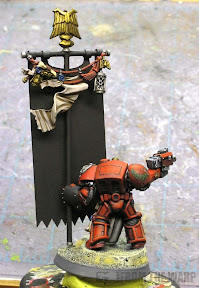 Blood Angels Armageddon banner bearer back view