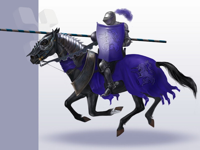 Black Knight On Horse, Warriors