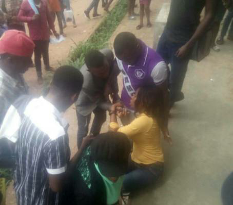 IMSU student faints after lecturer flogs her with belt