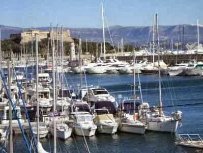 Hafen von Antibes, Côte d'Azur, Frankreich