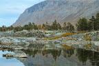 EAUX LIBRES   Rivière sauvage en Laponie Suédoise, à l'extrème Nord de la Suède, près de Kiruna (territoire des samis, éleveurs de rennes)