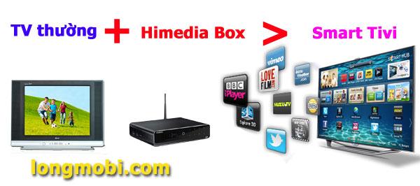 Biến tivi thường thành smart tivi với himedia box