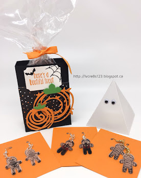 Linda Vich Creates: A Halloween Treat, A Ghost, and Other Creepy Stuff. A ghastly group of Halloween projects created with Swirly Scribbles Thinlits, Pyramid Pals Thinlits, Cookie Cutter Halloween and the Cookie Cutter Builder Punch.