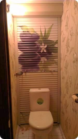 Рольставни в туалет с рисунком