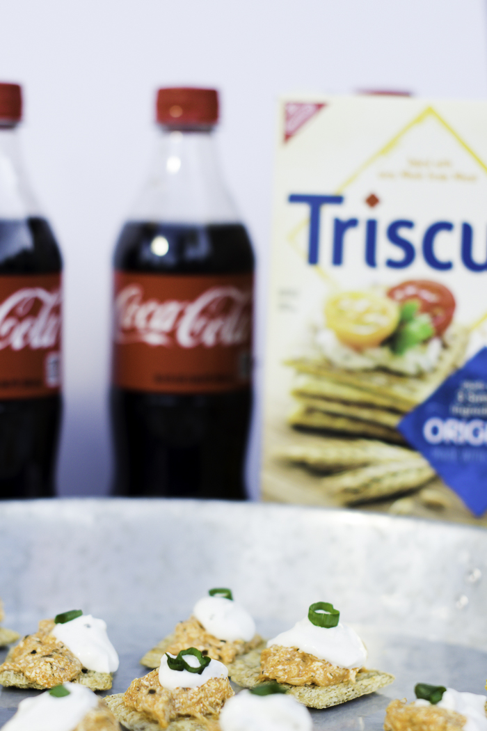 TRISCUIT and Coca-Cola with buffalo chicken dip for a party