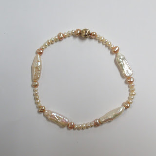 10K Gold and Pearl Bracelet
