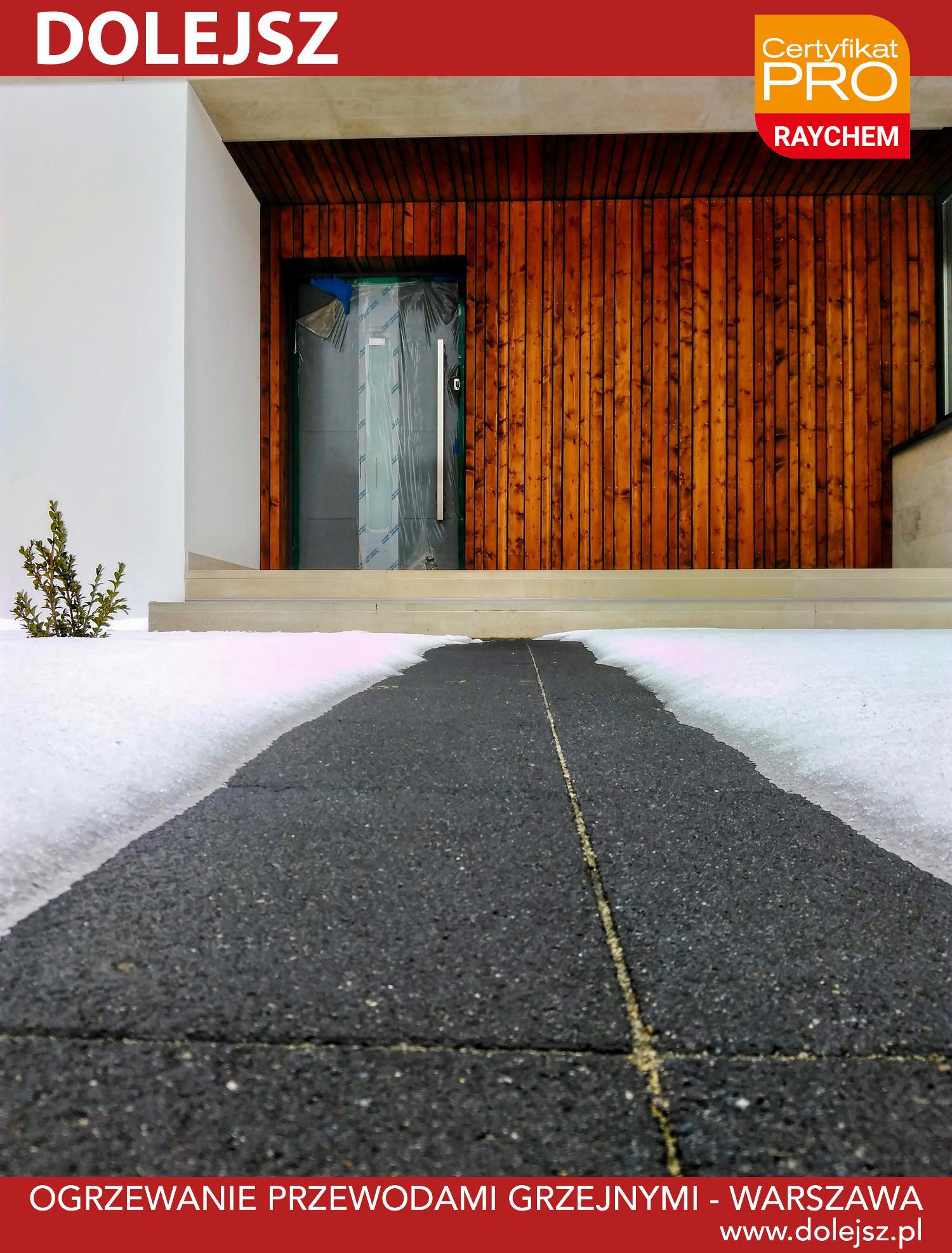 Podgrzewany chodnik bez śniegu i lodu