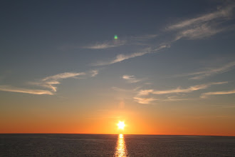 Photo: Sunset over the Mediterranean from the Algerian - Spain ferry