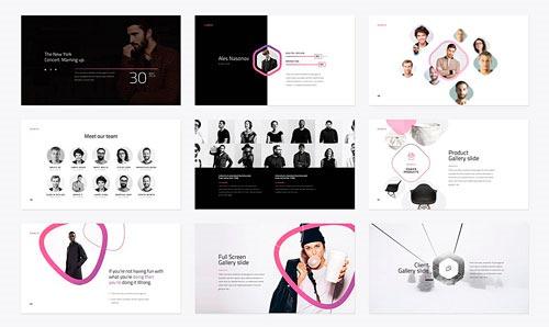 Algunas de las diapositivas de la plantilla, muestra 4