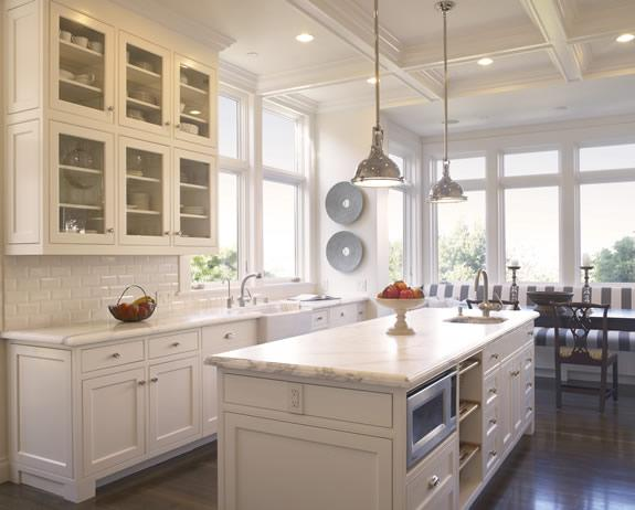 Gast Architects Designed This Gorgeous Clic White Kitchen Topped Off With Rich Marble