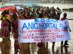 Défilé des infirmiers congolais à Kinshasa, le 12/05/2015 sous la pluie lors de la célébration de la journée de l'infirmier. Radio Okapi/Ph. John Bompengo