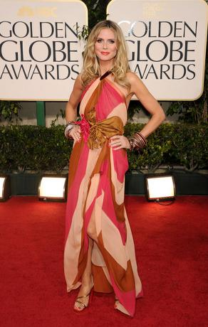Heidi Klum Golden Globes Celebrity Dresses