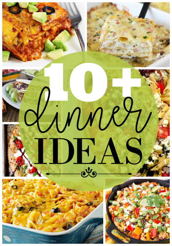 10  Dinner Ideas at GingerSnapCrafts.com #dinner #recipes