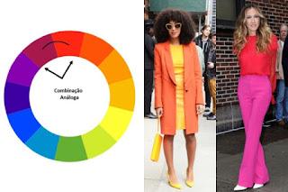 Resultado de imagem para harmonia cores roupa